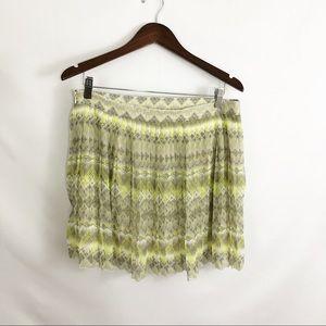 American Eagle Pleated geometric skirt size 12